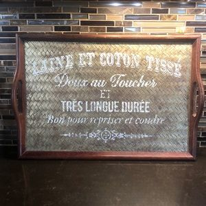 Custom stenciled French tray